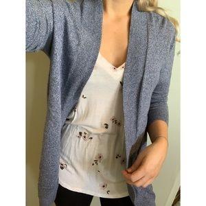 XS, Gap, long blue open front cardigan